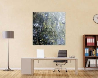 Original abstract artwork on canvas ready to hang 130x120cm #817