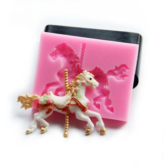 3d silicone mold pony lovely cartoon animal silicone for 3d printer cake decoration
