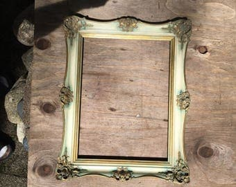 Ornate gesso wood frame