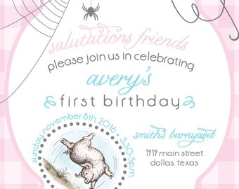 Charlotte's Web Birthday Invite