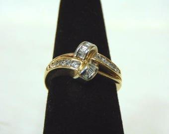 Vintage Estate 14K Yellow Gold & Diamond Ring 4.2g E2967