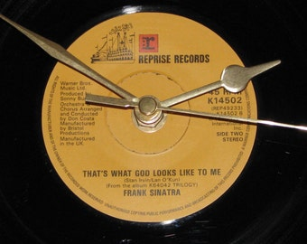 "Frank Sinatra Thats what god looks like to me  7"" vinyl record clock"