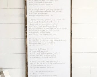 Humble and kind | song lyrics | 24x48