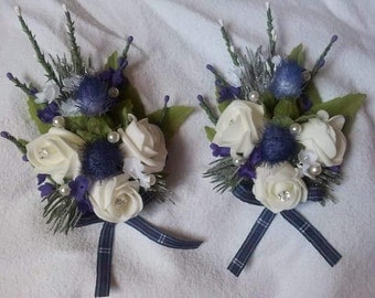 2 Pride of scotland brooch pin corsages