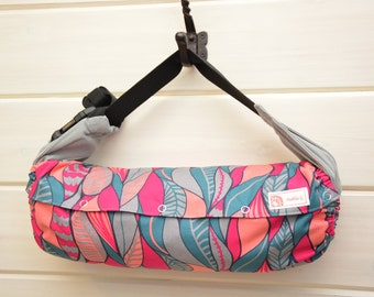 NEW!! Baby Carrier Cover (Reversible) Leaving in Magenta/  Stamped in Coral (Cheshire) Tula/Ergo/Kinderpack/Beco/Boba