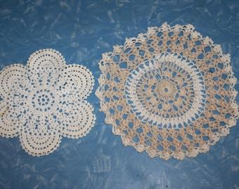 Two Sweet Little Crochet Doilies