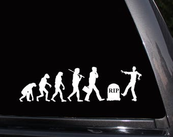 Zombie Evolution Vinyl Decal, Humor, Walking Dead Laptop Decal, Wall Decal,Car Decal,Macbook Decal,Girly Decal,Laptop Sticker,Vinyl Stickers