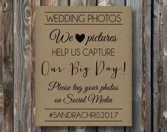 PRINTABLE Wedding Social Media Sign-Wedding Sign-Hashtag Sign-Wedding Photos-Wedding Photo Booth-Capture Our Day-Printable Wedding Sign-SM2