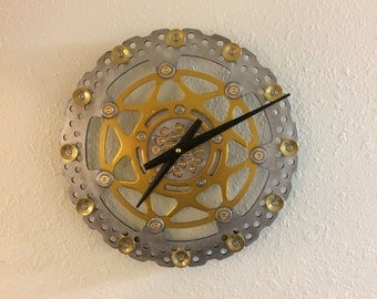 Motorcycle brake rotor clock