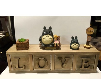 My neighbour Totoro & Friends figures studio Ghibli small storage chest drawer jewlleries necklace earrings