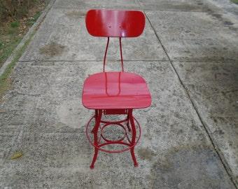 Industrial metal chair / shop chair / work chair / machinist chair / swivel chair / draftsman chair