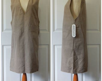 Vtg Corduroy Jumper Dress Sleeveless Size 10 (Medium) Brown Mizz Lizz (R1-14)