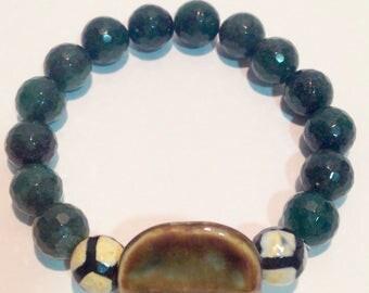 Bracelet agate Green
