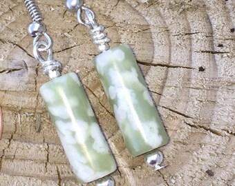 Peace Jade Drop Earrings