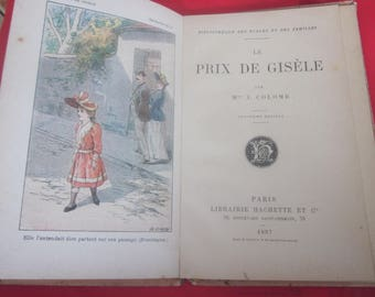 1897 Vintage Small Book (illustrated) France Library of Schools & Family + Price of Good Conduct The Price of Giséle Librairie Hachette