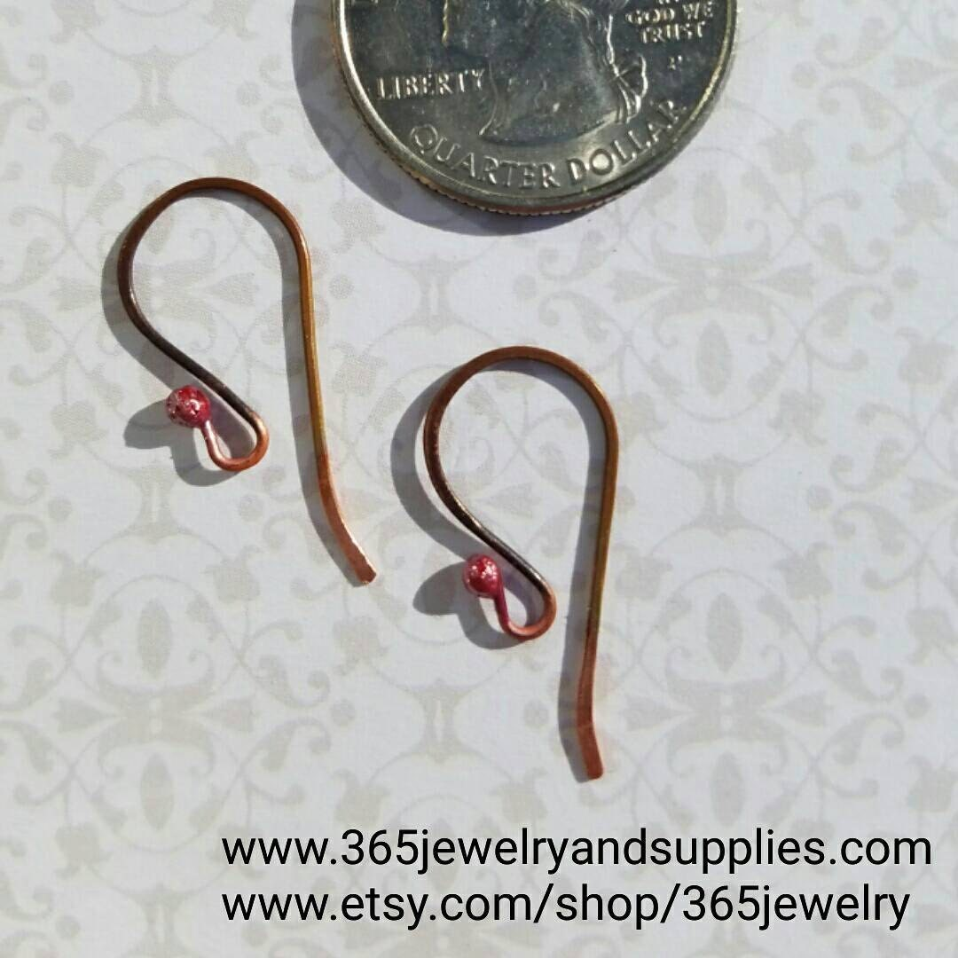 22 Ga Handmade Cherry Red Ear Wires Unique Handmade Findings Earring Ponents 10 Pairs 20 Pieces
