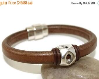 25% OFF Mens leather bracelet mens bracelet bangle bracelet licorice leather brown leather bracelet mens gift magnetic clasp LLB-32-07