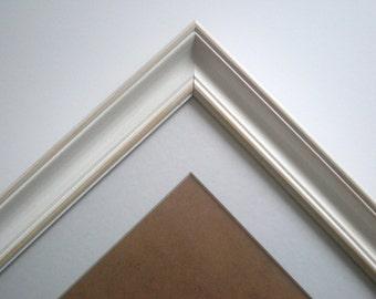 White frame A4 frame distressed frame cottage frame shabby chic frame off white frame rustic frame RusticFrameShop