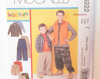 Sale Brand New McCall's M6222 Pattern Shirt Vest and Pants for Goys sizes Medium Large and X-Large - for custom ooak creations