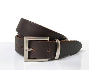"Brown Dress Belt - 1"" 1/4 - Handmade In UK - Men Dress Belt - Brown Leather Belt - Mens Belt - Brown waist belt - Women Leather Belt"