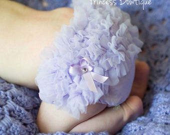 Baby Ruffled Bloomers, Baby Bloomers, Diaper Covers, Lavender Baby Bloomers, Chiffon Bloomers, Baby Girl Bloomers, Girls Clothing