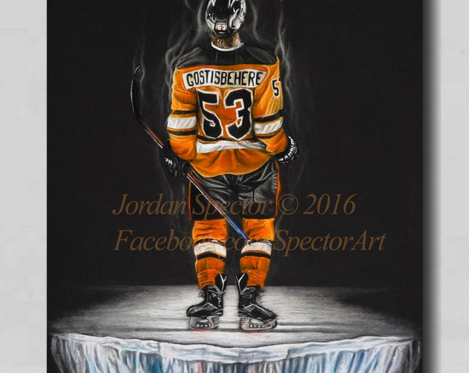 Philadelphia Flyers - Shayne Gostisbehere - Canvas Print - Ghost Bear - Wall Art- Man Cave - Flyers Decor - Dorm Decor - Gifts Idea - Flyers