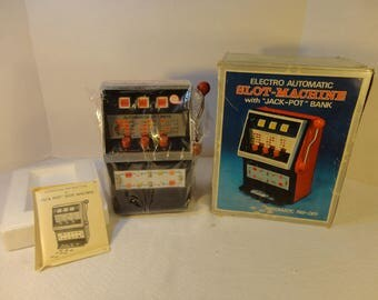 """Electro Automatic Slot Machine with """"Jack Pot"""" Bank Pay-Off Made by the Waco Toy Company in 1972."""