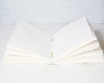 "6x9"" page block, handmade paper page, book block, handbound book, fine art paper, textured paper, plain paper, journal pages, blank journal"
