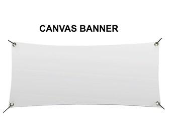 3 x 5 Blank Canvas Banner