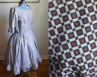 Medium - Sweet Cotton Handmade 1950's Dress