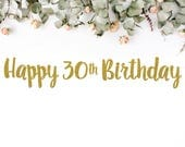HAPPY 30TH BIRTHDAY (S7) - banner / forty / fortieth party / photobooth / backdrop / decor