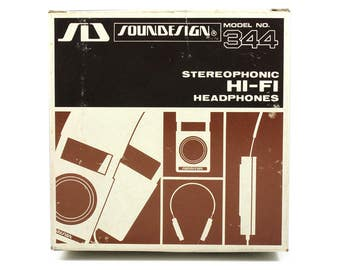 Vintage Soundesign Model 344 Stereophonic Hi-Fi Headphones