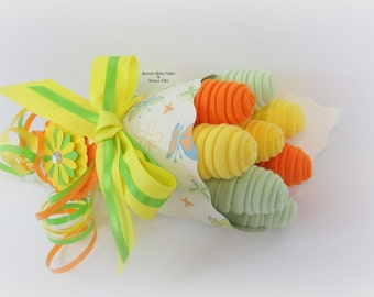 Baby Washcloth Bouquet, Washcloth Bouquet, Neutral Baby Gift, Baby Bouquet, Neutral Washcloth Bouquet, New Mom Gift, Hospital Gift