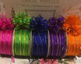 Ribbons and trims,ribbons,bows,party favor bows,small bows,pastel color bows,wedding bows,wedding party favor bows quinceanera bows,ribbon