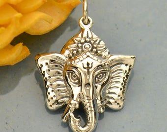 Sterling Silver Elephant Ganesh Pendant