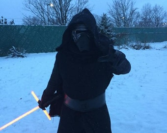 KYLO REN Basketweave Robe with hood and cape    501st acceptable