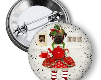 Pugs Dress For Christmas, Gifts, Pugs, Dogs, Stocking Stuffer, Dog Lover, AN1104
