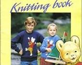 Rupert and Friends Knitting Pattern Booklet, UK seller, full colour, printed knitting booklet, Rupert Bear, Algy, nostagic knits