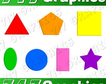 Colored Shapes Clipart