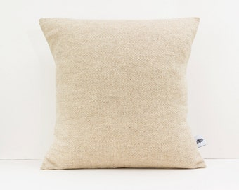 Textured cushion - Herringbone pillow - Decorative pillows for couch - Light Brown pillow - Fathers day gift