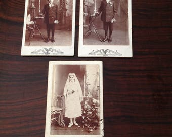 Antique Confirmation Cabinet Card Photography From Chicago 1900s