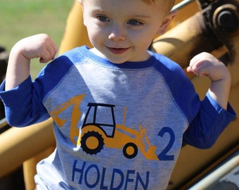 Backhoe birthday shirt, Construction birthday shirt, digger birthday shirt, construction t-shirt, digger shirt, construction birthday party,