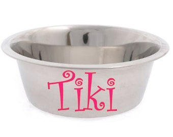 Personalized Stainless Dog Bowl