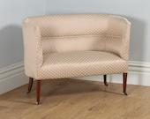 Antique English Edwardian Mahogany Tub Couch Sofa  Settee (Circa 1910)