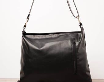 Leather handbag, purse - The Brown
