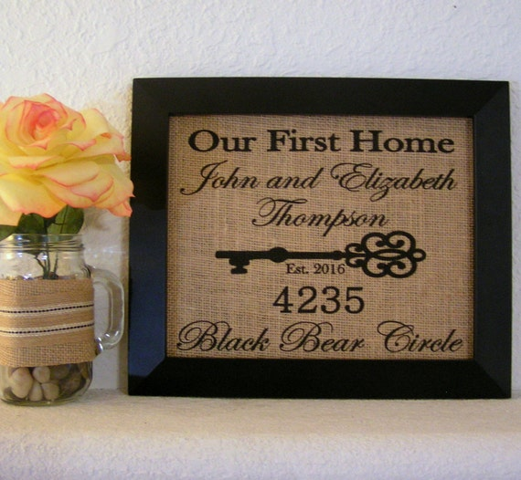 House Warming Gift New Home Housewarming Gift Our First Home