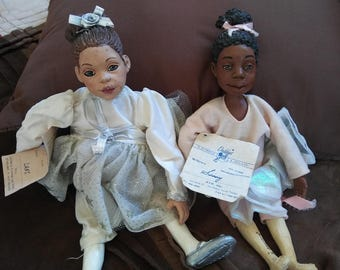 Vintage & RETIRED Daddy Long Legs Ballerina Dolls- Dani and Sissy