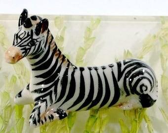Zebra   - handpainted porcelain figurine, 6254