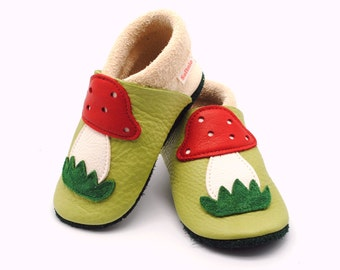 baby booties, baby shoes, baby slippers, leather baby shoes, leather slippers, slippers, colourful child footwear, vegetable tanned leather