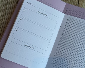 HABIT TRACKER Traveler's Notebook Insert - Available in 8 sizes and 22 colors